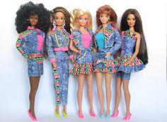 1990 Barbie - Jeans 👖Week-End Fashions # ? Barbie 80s, Hello Barbie, Barbie World, Barbie And Ken, Vintage Barbie, Vintage Dolls, Barbie Style, Romy And Michelle, 1980s Kids