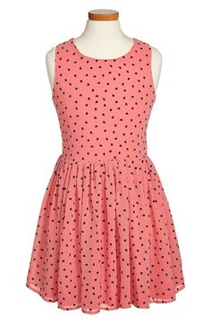 MISS BEHAVE 'Tulip' Chiffon Dress (Little Girls & Big Girls) available at #Nordstrom