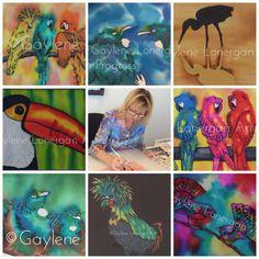 "0 Likes, 1 Comments - Gaylene Lonergan (@gaylenelonerganart) on Instagram: ""Sneak peek of some of my bird paintings #gaylenelonerganart #silkpainting #art #artsy #instaart…"""