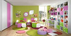 Kids Colorful Bedroom  Decorating a Bedroom with Multiple Colors