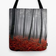 Bloody Forrest Tote Bag by Sreysa'art - $22.00