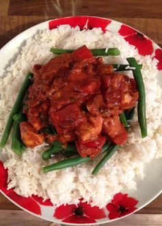 Yummy curry with rice and green beans! Snack Recipes, Snacks, Syn Free, Slimming World, Green Beans, Curry, Rice, Beef, Meals