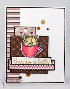This is Me Playing With Paper: Your Next Stamp Sketch/Colour Challenge # 62 (Hammie Coffee and Tea)