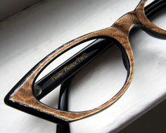 Vintage cat eye glasses from France by BackThennishVintage on Etsy.