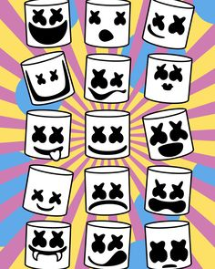 Marshmello fanart by Nikita Abakumov Halloween Quotes, Halloween Pictures, Cartoon Wallpaper, Wallpaper Backgrounds, Graffiti Wallpaper, Marshmallow Pictures, Marshmello Wallpapers, Desenhos Cartoon Network, Graffiti Characters