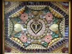 Antique Sailor's Shell Art Valentine by Cave Creek, via Flickr