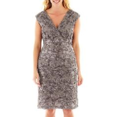 Blu Sage Cap-Sleeve Floral Sequined Dress - Plus   found at @JCPenney