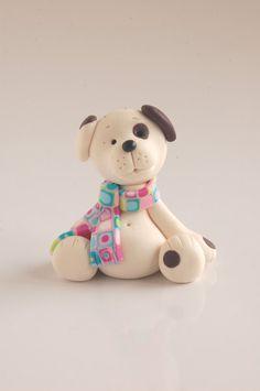 Polymer clay doggy.