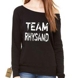 Team Rhysand Night Court Slouchy Off Shoulder Oversized Sweatshirt