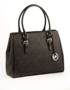 b678d3971e Michael by Michael Kors Signature Medium Work Tote Bag... Added to my  possession