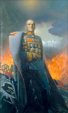 Georgy Konstantinovich Zhukov, Marshal of the Soviet Union, by Konstantin Alexeyevich Vasilyev (1973)