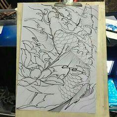 Asian Tattoos, Fish Tattoos, Japanese Koi Fish Tattoo, Back Tattoo, Painting & Drawing, Tatting, Tattoo Designs, Oriental, Photo And Video