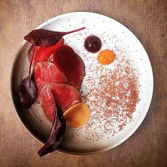 Smoked venison, beets, and chocolate by @chefdanielwatkins #TheArtOfPlating
