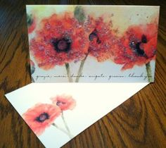 Papyrus Card with Poppies sent to A list clients