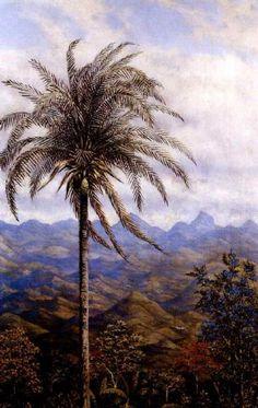 Gonzalo Ariza - Paisaje tropical - Arte Colombia - Informacion de la Obra Landscape Paintings, Landscapes, Colombian Art, American Art, Masters, Design Art, Mountains, Photography, Travel
