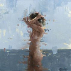 "The Edge of Realism | Jacob Dhein | ""Nude in Blue II"" 