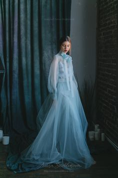 Tender airy Wedding set of aqua colour - Dresses - Tulle Dress, Satin Dresses, Pageant Dresses, Spring Outfits Women, Bridesmaid Dresses, Wedding Dresses, Dresses For Teens, Beautiful Gowns, Ladies Dress Design