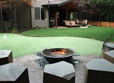 Adding an element of fire to a backyard space adds warmth plus a high-end look! http://freshome.com/fire-pit-ideas/