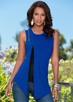 Regata azul royal encomendar agora na loja on-line bonprix.de  R$ 79,90 a partir de Regata com sobreposição, nas cores azul royal e preto. Com detalhe em ...