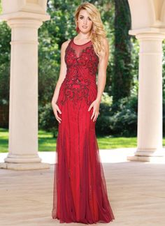 d1c5b4bb8fd Sean Collection 50955 Beaded Gown with Strappy Back