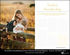 My Tandem Breastfeeding Portrait in Nurture ~ Natural Parenting Magazine. Photo by Sweetness and Light.