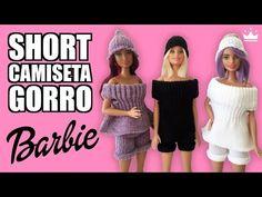 Cómo hacer SHORT, CAMISETA y GORRO para tu muñeca Barbie con un Guante. ¡Muy Fácil! - YouTube