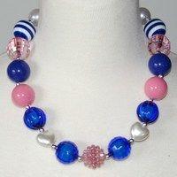 Pink and Blue Chuncky Necklace only $6.99  https://www.facebook.com/gabskiaccessories www.gabskia.com