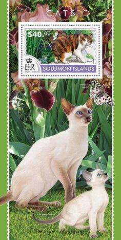Post stamp Solomon Islands SLM 15217 bCats (Manx)