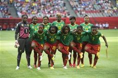 The Cameroon teams poses for a photo prior to a match against Japan at the FIFA Women's World Cup soccer tournament Friday, June 12, 2015, in Vancouver, British Columbia, Canada. (Jonathan Hayward/The Canadian Press via AP) ▼10Jun2015AP|Japan earns knockout berth with 2-1 win over Cameroon http://bigstory.ap.org/article/6da7cc6c61a440d09f80e45330b33a21 #2015_FIFA_Womens_World_Cup #Group_C_Japan_vs_Cameroon
