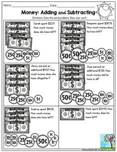 adding and subtracting money worksheets math worksheets. Black Bedroom Furniture Sets. Home Design Ideas