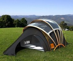 Solar tent can harness energy to provide electricity to portable gadgets- needed for traveling to places I want to go!!!