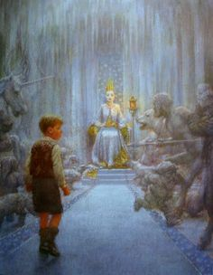 Edmund in the Witch's castle. Illustration by Christian Birmingham