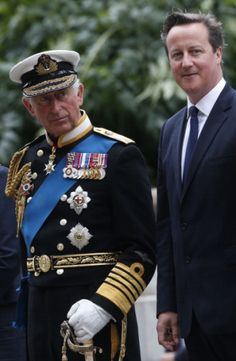 8/4/14 ~ COMMEMORATION OF THE CENTENARY OF WWI ~ Prince, Charles,  Prince Of Wales, with Prime Minister David Cameron