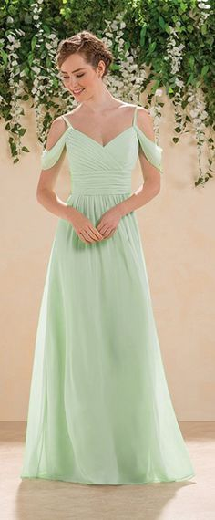 73d393a30254  75.99  Fabulous Chiffon Spaghetti Straps A-Line Bridesmaid Dresses With  Pleats