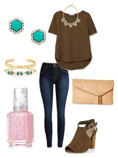 """""""Untitled #280"""" by kmysoccer on Polyvore featuring MANGO, New Look, Stella & Dot, Urban Expressions, Essie and Blu Bijoux"""