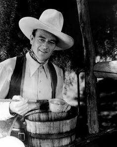 John Wayne I like seeing him in these B movies.