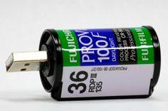 Roll of film USB drive