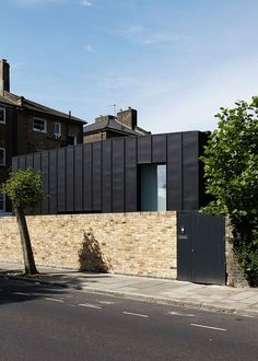 Articles about small mighty passive house london. Dwell is a platform for anyone to write about design and architecture. Metal Facade, Brick Facade, Metal Buildings, Facade House, Zinc Cladding, Brick Cladding, Cladding Ideas, Garage Extension, Zinc Roof