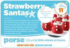 On the 11th day of Christmas PORSE Crafts gave to me... A Strawberry Santa Recipe!