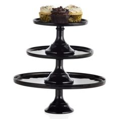 Glass Cakestand - Black from Z Gallerie
