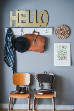 Hello sign for the enytryway
