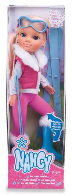 Tienda De Muñecas - Nancy Pink Sport Esqui De Famosa - Diversal Nancy Doll, Nagano, Dolls, Christmas Ornaments, Holiday Decor, Baby, Heaven, Houses, Vestidos