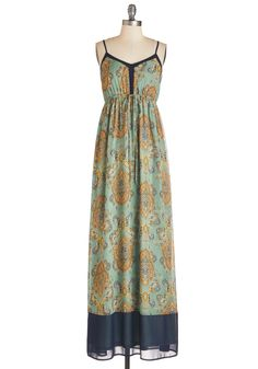 Fab Folk Fest Dress. Hit all the right style notes in this paisley maxi dress!  #modcloth