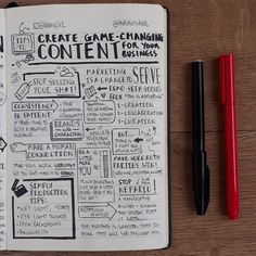 How to create effective content marketing? . Tonight's #nudenotes '7 Tips to Create Game-Changing Content for Your Business' based on a YouTube video from @thefuturishere with @thechrisdo and @tedsimtv .  Although I am not in the business of creating video content, I found these 7 tips super interesting.