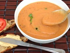 Tomato Lentil Soup from Dreena Burton (just use the water option instead of olive oil and you are good to go!)