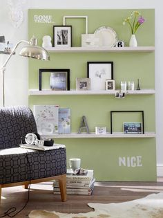 Ribba shelf inspiration. I want these shelves from Ikea!