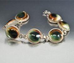 Silver Operculum Shell Evil Eye Bracelet Gothic by boylerpf, $90.00