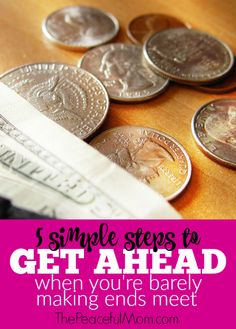 Do you feel frustrated with your finances and feel like you can never reach your financial goals or get out of debt? Take a look at these 5 simple steps that we used to turn our money around in only a few months. -- from ThePeacefulMom.com