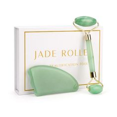 Imagine a spa day every day with the GRACY'S™ Jade Roller Spa! The GRACY'S™ Jade Roller Spa is more heavy-duty than our original Jade Roller, allowing for more leverage in sculpting your cheekbones + defining your jawline. Jade Face Roller, Jade Crystal, Dark Under Eye, Under Eye Bags, Face Massage, Roller Set, Massage Roller, Bright Skin, Perfect Skin