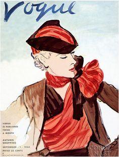 Vintage Vogue Covers, Sep 1, 1934 #VintageVogueCoversKisyovaLazarinova